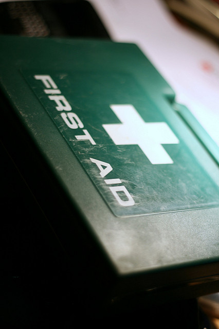 First aid kit, car safety, road trip, car journey