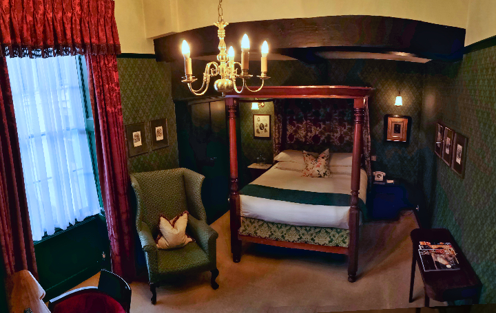 The Charles Dickens Suite at The Angel Hotel in Bury St Edmunds
