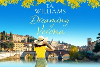 Dreaming of Verona by T.A. Williams, romance novel with a mention of Shakespeare