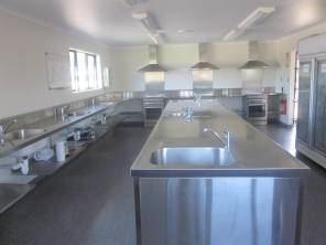 The Kitchen at the campsite, Cooks Bay