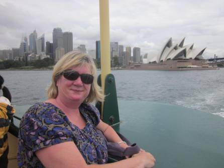 Me on the ferry, Sydney