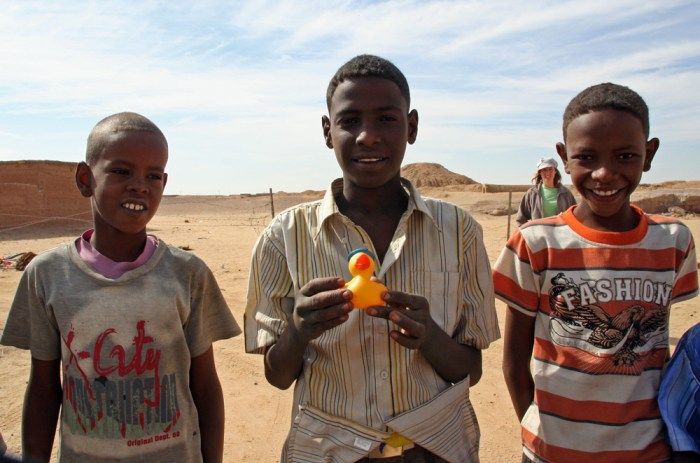 Sudanese boys in Karima