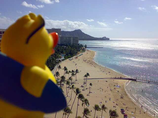 Honolulu - overlooking Waikiki beach