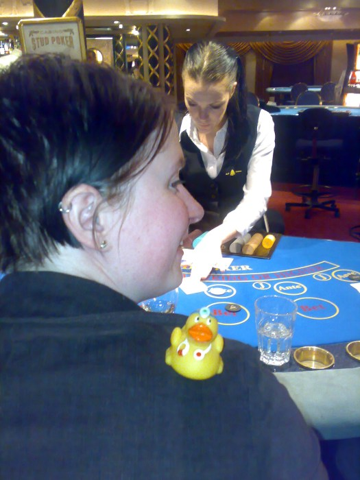 In the casino at the ferry to Kiel