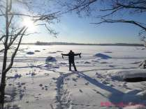 ¡Sobre el Báltico congelado!