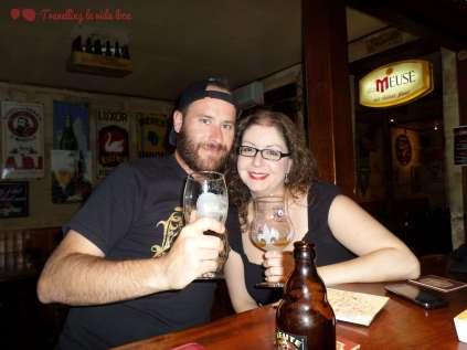 En la cervecería Le Lucifer, disfrutando de unas buenas cervezas