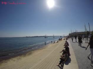 """La """"playa"""" a la orilla del río"""