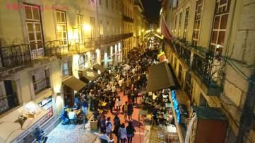 La Rua Nova de Carvalho a tope