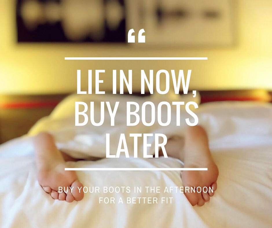 Lie in nowbuy boots later