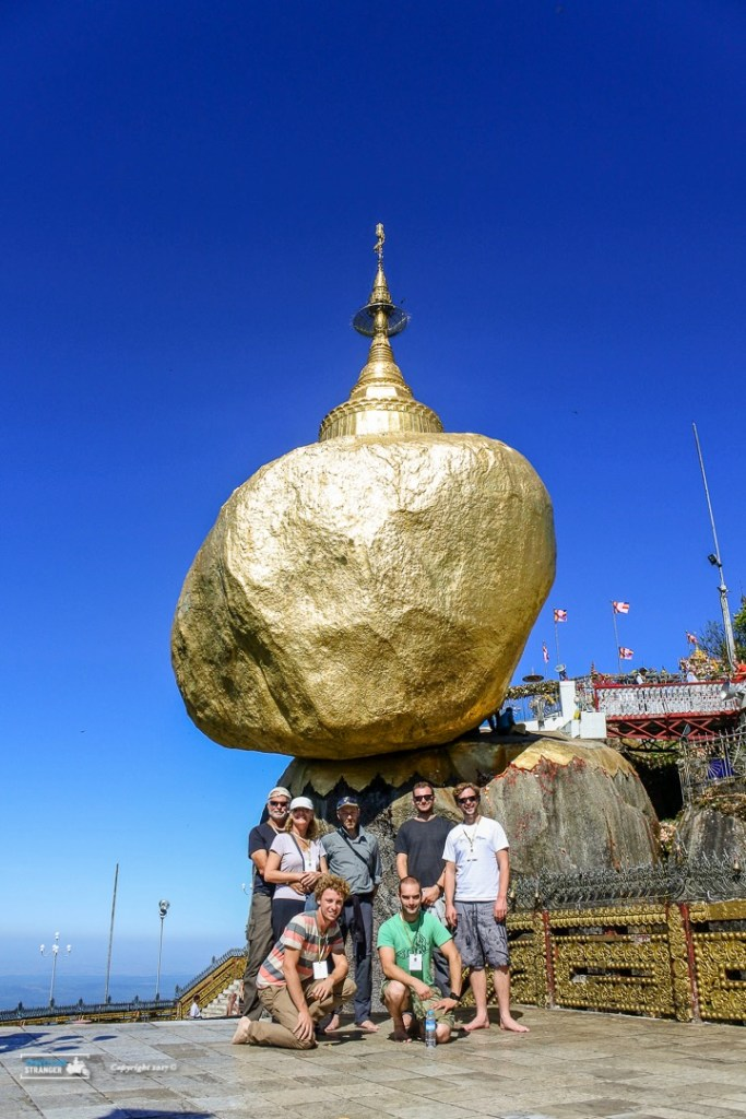 The Golden Rock with my overland travel buddies.
