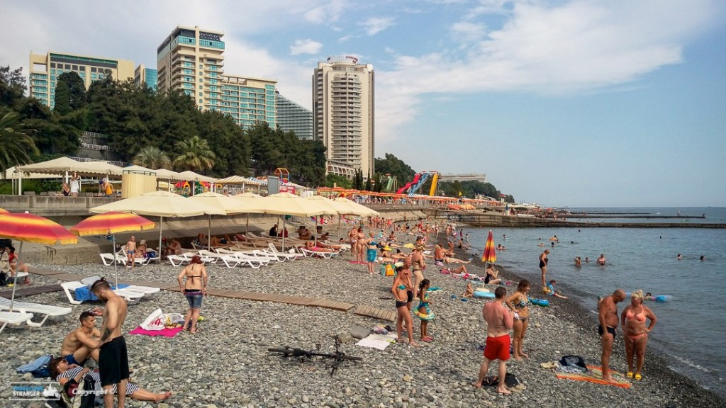 Beach down town Sochi