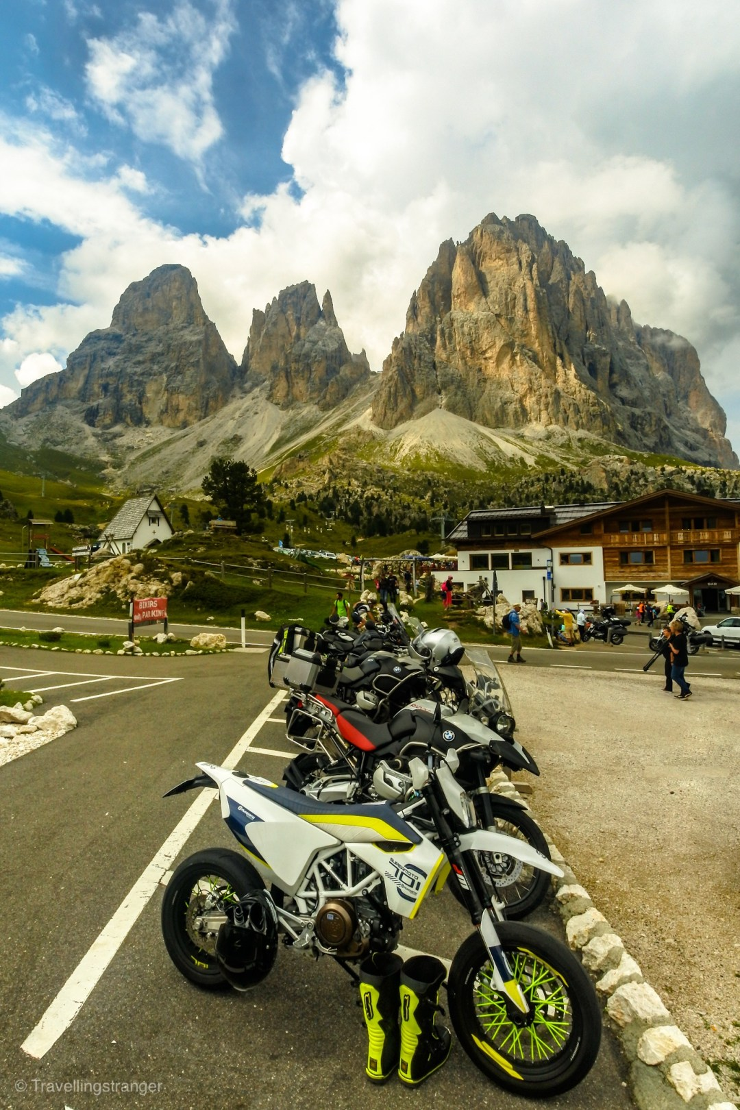 Bike park at Passo Sella