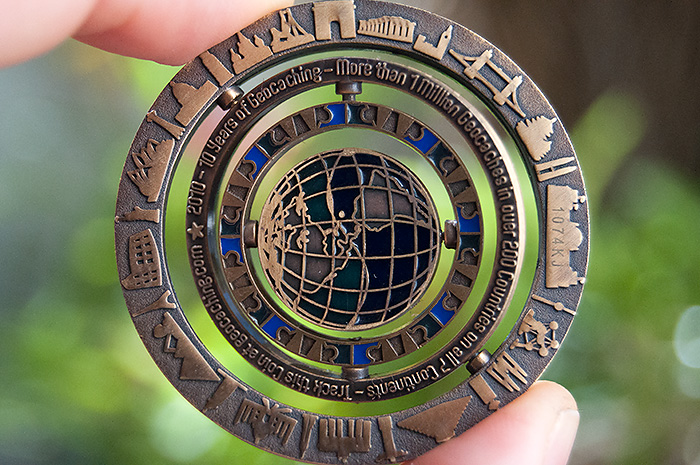 Geocaching coin