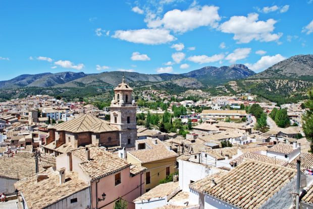 View over the rooftops of Caravaca de la Cruz