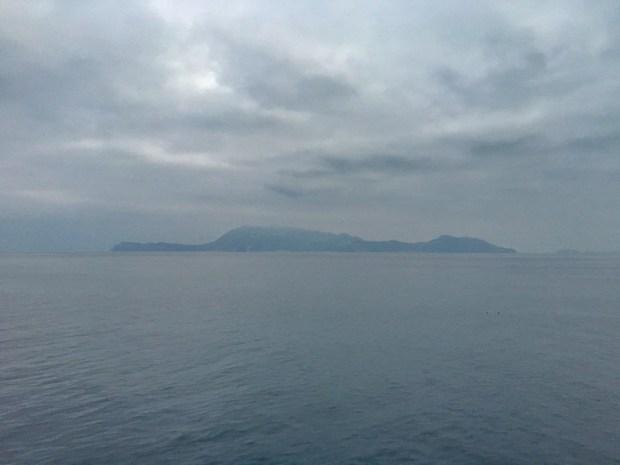 Passing the island of Ischia