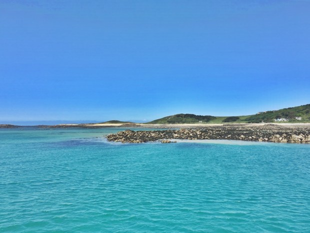 First view of Herm Island and the beautiful beaches from the ferry!