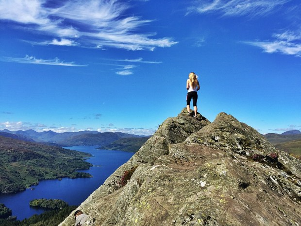 Taking in the incredible view from the highest point of Ben A'an