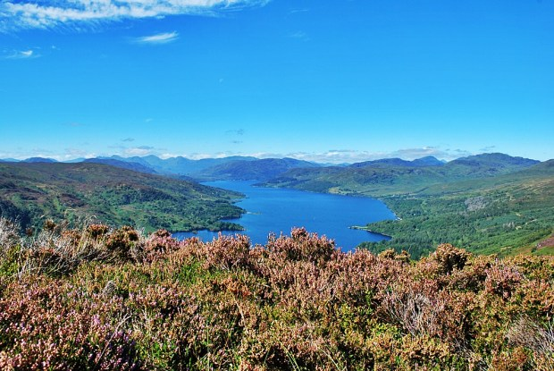 Loch Katrine from the top of Ben A'an
