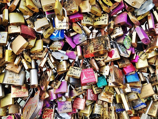 Love Locks on the Pont
