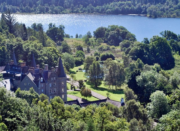 The Tigh Mor Hotel on the banks of Loch Achray