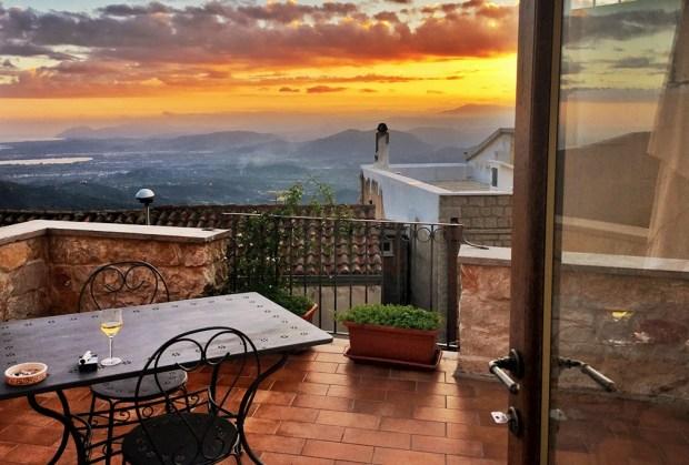 sunset in Baunei, Sardinia