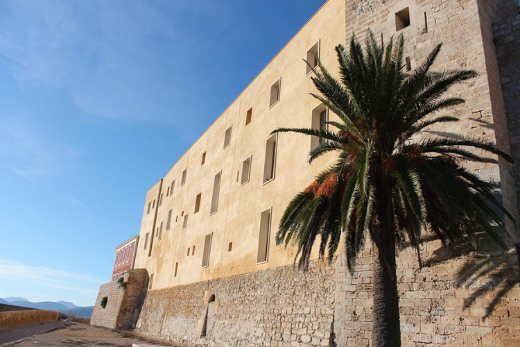 Old Town in Ibiza, average weather in Ibiza at this time of year is sunny and warm