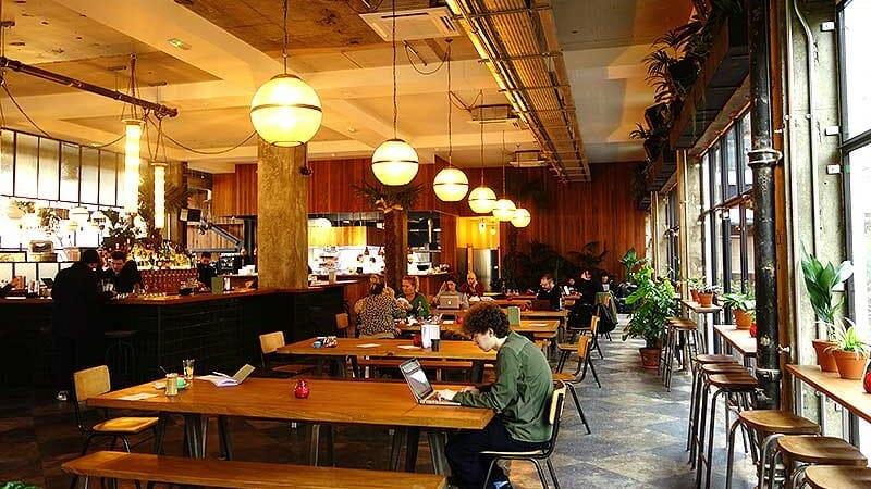 coworking cafes in London - Mare Street Market near London Fields is fab