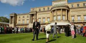 The Royal garden party hosted by the Queen at Buckingham Palace. Copyright royal.com