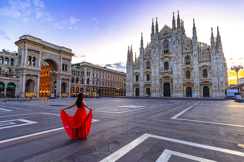 Milan travels will take you to extraordinary sites like this