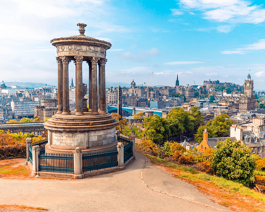 Edinburgh in Scotland is endlessly romantic for a break away
