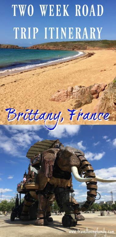 Two week road trip itinerary Brittany, France