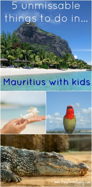 5 unmissable things to do in Mauritius with kids including the best beaches, getting up close to 2,000 Nile crocodiles and exploring the turquoise blue waters. Article also highlights some of the best family villas by Mauritius-Villas.com #mauritius #IndianOcean