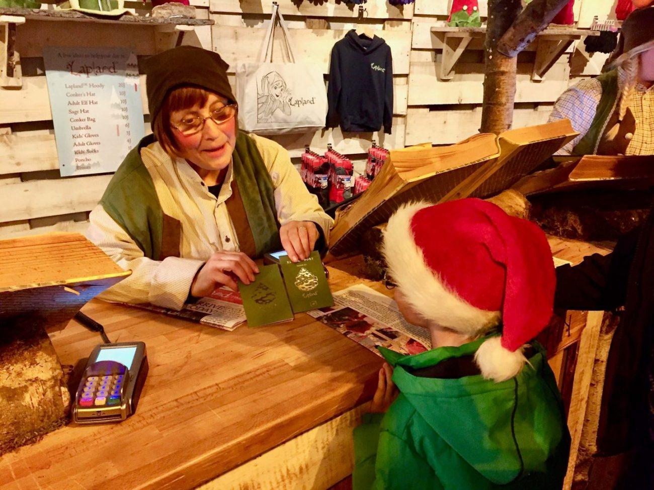 Lapland UK meeting elf in the reception