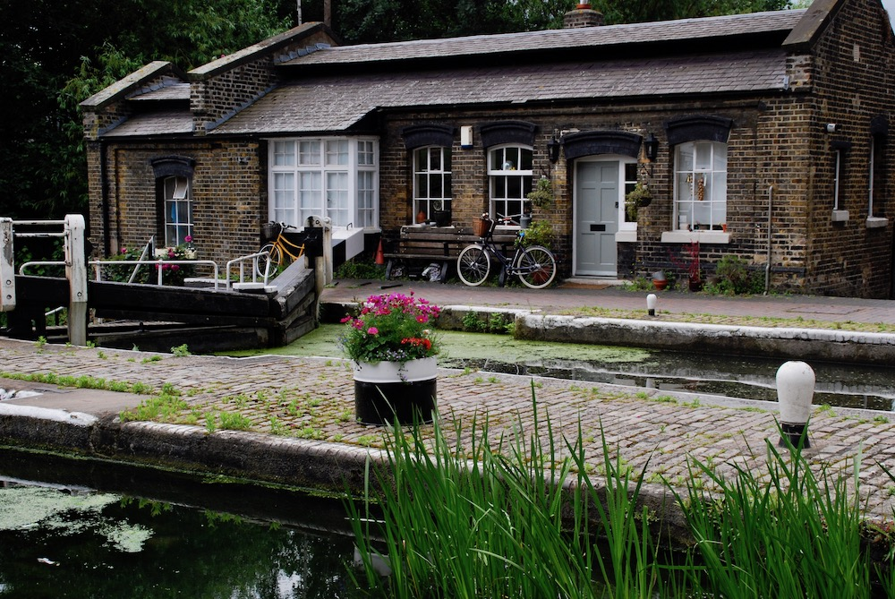 Wandeling Regent's Canal Londen Verenigd Koninkrijk