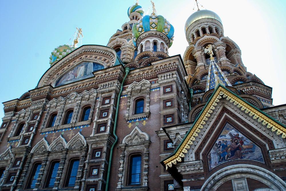 Kathedraal van de Verlosser op het Bloed Sint Petersburg Rusland
