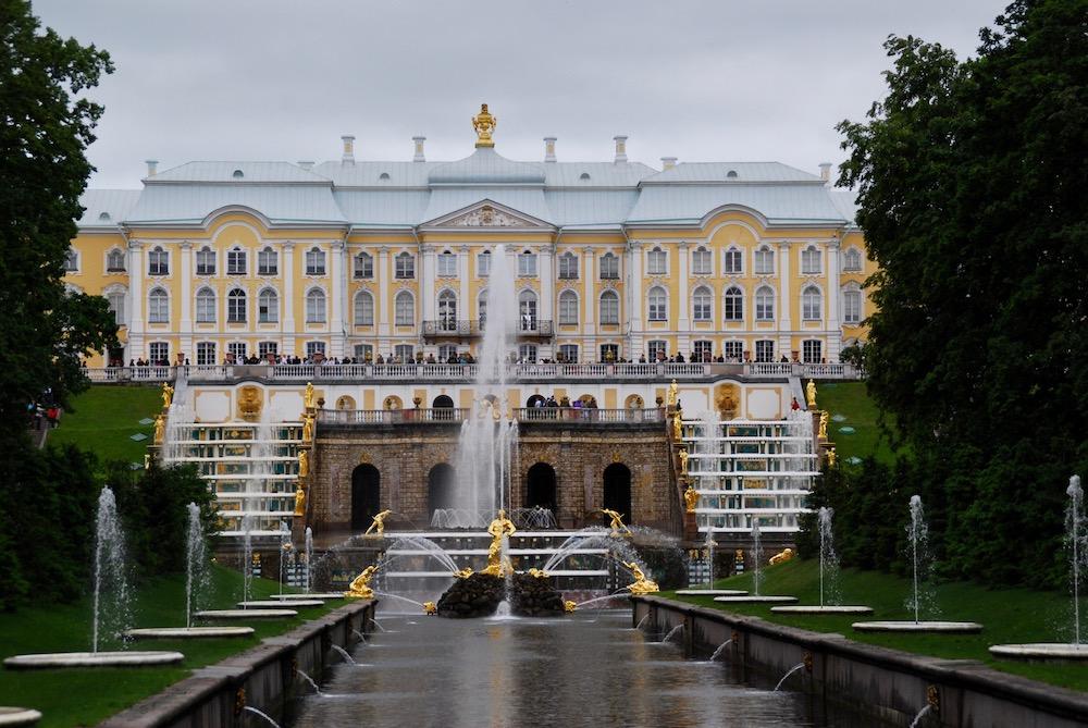 Paleizencomplex in Peterhof Sint Petersburg Rusland