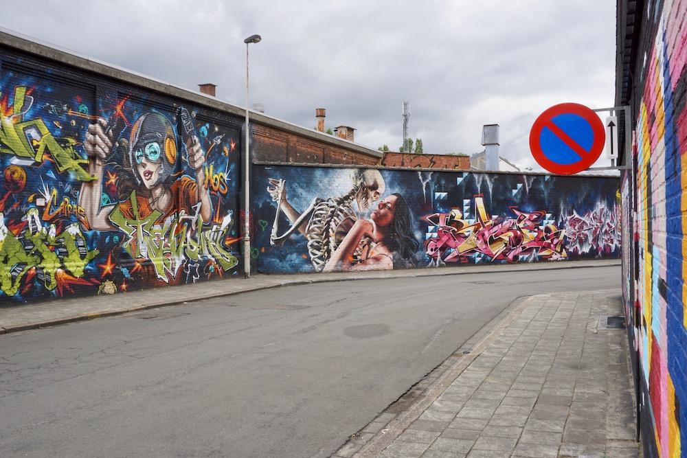 Street art Zurenborg Antwerpen België