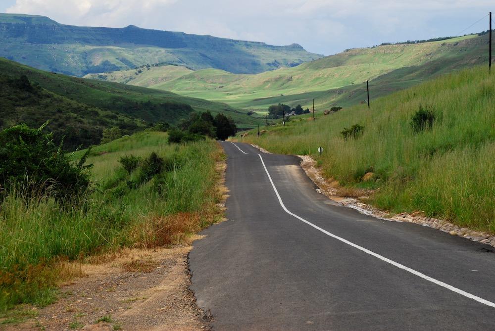 Route roadtrip Zuid-Afrika Drakensbergen
