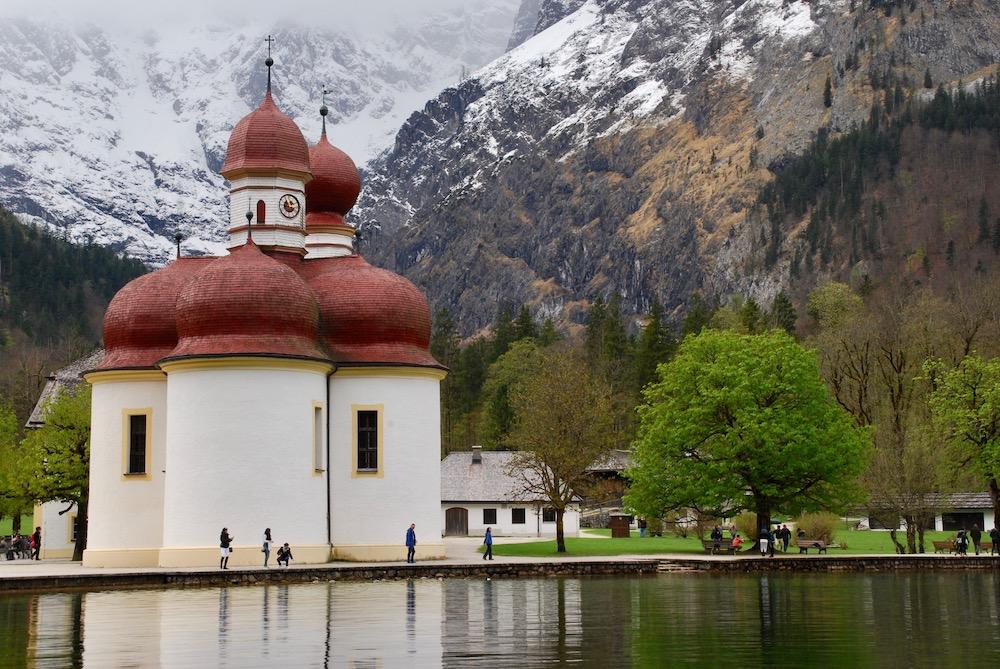 St. Bartholomä Hierschau Nationaal Park Berchtesgaden Duitsland