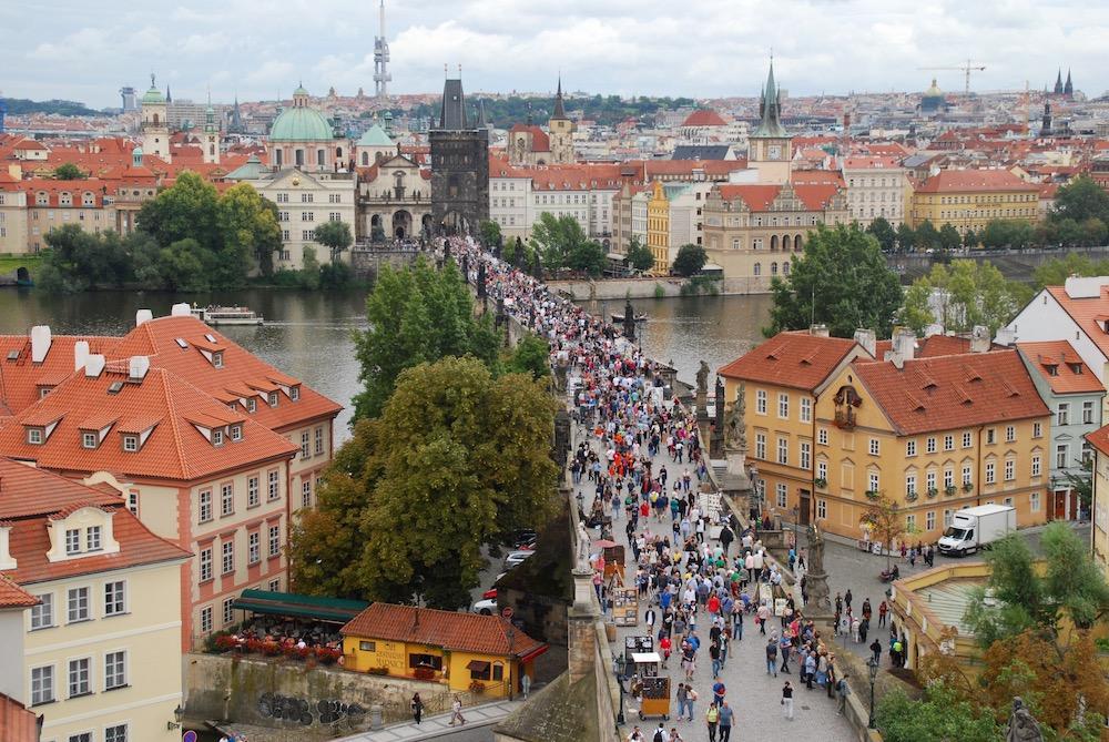 Mooiste uitzichten Praag Tsjechië Lesser Town Bridge Tower