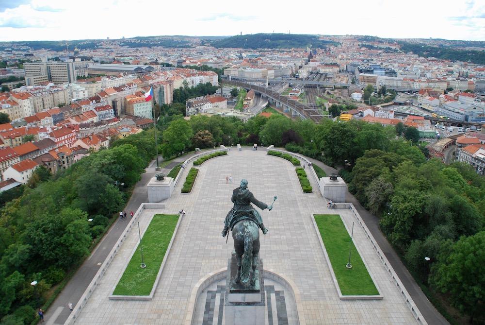 Mooiste uitzichten Praag Tsjechië Vítkov Nationaal Monument