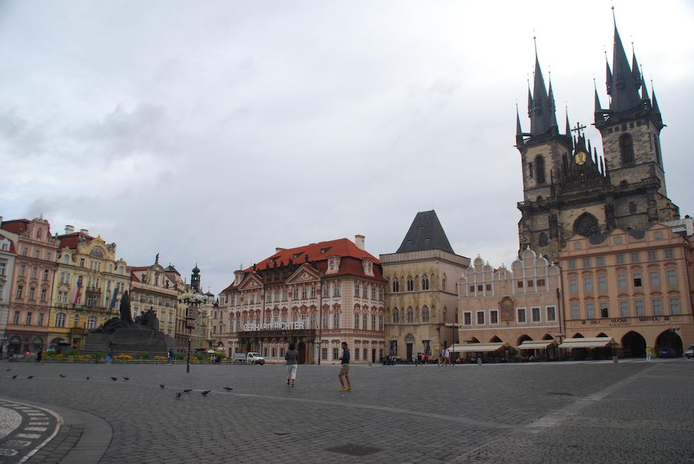 Oude Stadsplein Praag Tsjechië