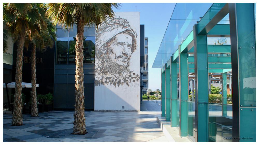Vhils street art Dubai