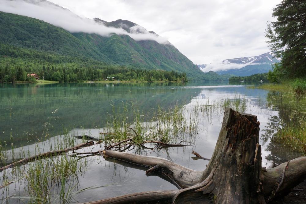 Kenai River Cooper Landing Alaska Verenigde Staten