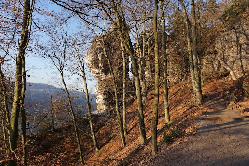 Wandelen in Nationaal Park Sächsische Schweiz Rathen Duitsland