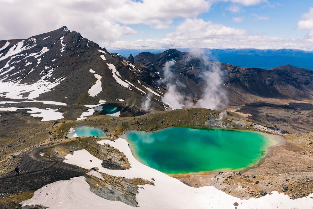 De mooiste nationale parken ter wereld Tongariro National Park Noordereiland Nieuw-Zeeland