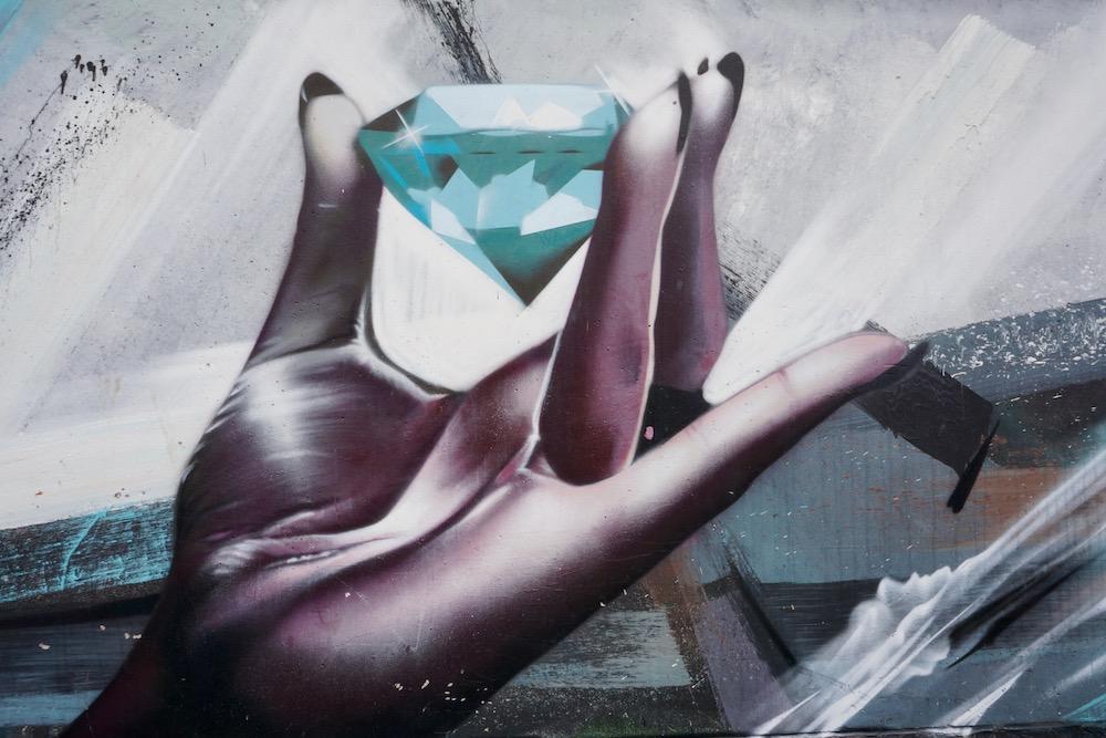 Diamond City Smates & Steve Locatelli street art Antwerpen Berchem België