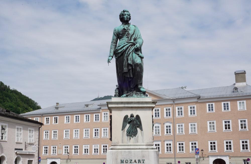 Mozartplatz Salzburg Oostenrijk