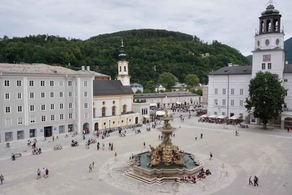 Residenzplatz Salzburg Oostenrijk