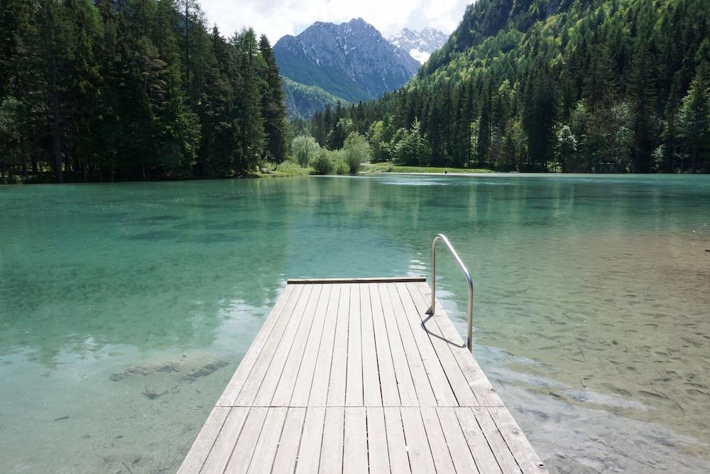 Planšarsko jezero Jezersko Slovenië